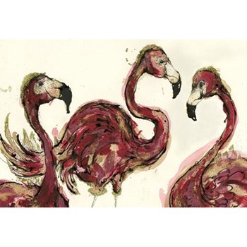 A Flamboyance Of Flamingoes Mounted print, 80 x 60cm