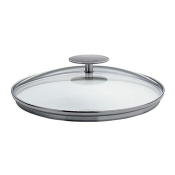 Mutine Glass lid with fixed handle, D20cm, stainless steel