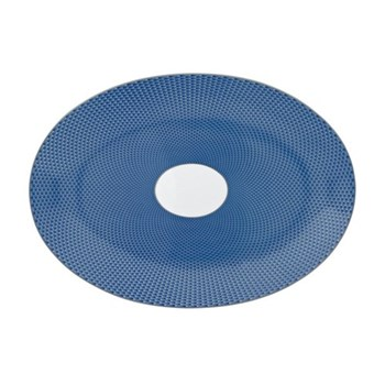 Tresor Bleu Medium oval dish, 36 x 26cm
