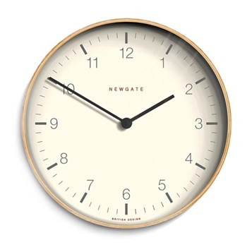 Mr Clarke Wall clock, 28 x 28 x 4.3cm, pale wood finish