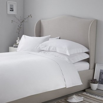 200 Thread Count Egyptian Cotton King size duvet cover, W225 x L220cm, white