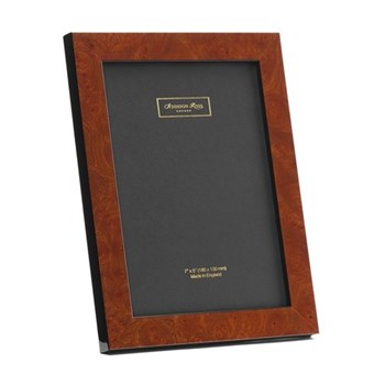"Walnut Poplar Photograph frame, 5 x 7"", brown"
