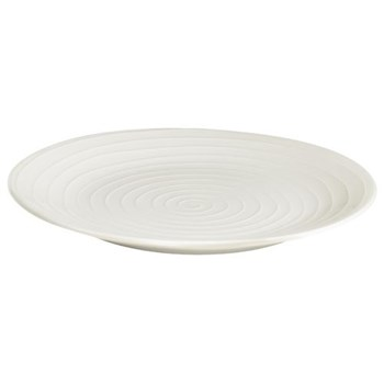Blond Salad plate, 22cm, white stripe