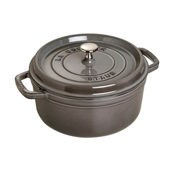 Round cocotte, 26cm, graphite grey