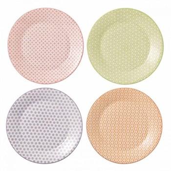 Pastels Accent Set of 4 plates, 23cm