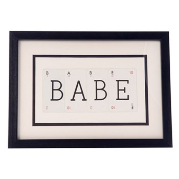 BABE Small frame, 40 x 30cm