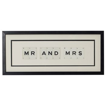 MR AND MRS Medium frame, 51 x 20cm