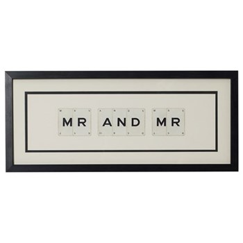 MR AND MR Medium frame, 51 x 20cm