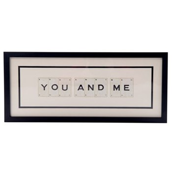 YOU AND ME Medium frame, 51 x 20cm