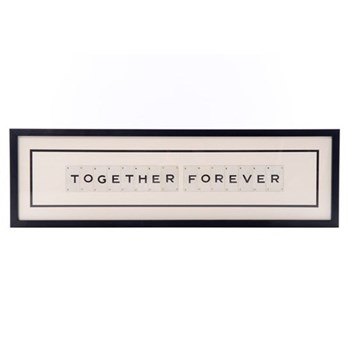 TOGETHER FOREVER Large frame, 76 x 20cm
