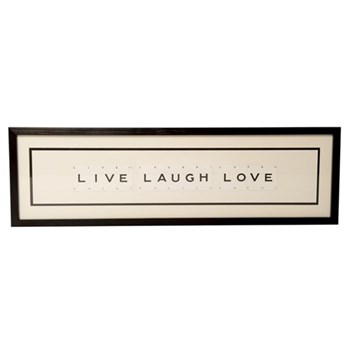LIVE LAUGH LOVE Large frame, 76 x 20cm