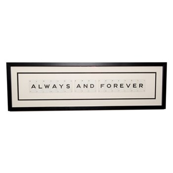 ALWAYS AND FOREVER Large frame, 76 x 20cm