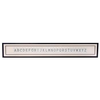 ABCDEFGHIJKLMNOPQRSTUVWXYZ Supersize frame, 160 x 20cm