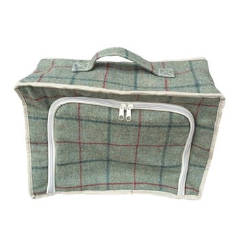 Green Tweed Cooler bag, 48 x 33 x 28cm