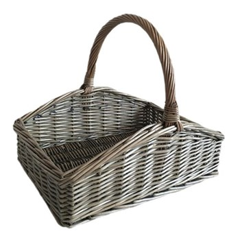 Sloped-Sided Large trug, 40 x 30 x 15cm, antique wash