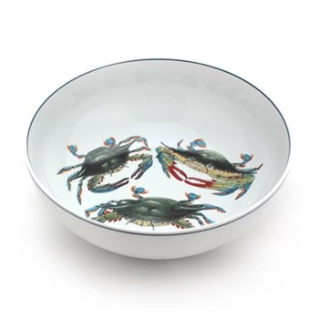 Seaflower Collection Serving bowl, 23cm, Blue Crab