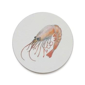 Seaflower Collection Coaster, 10cm, Shrimp