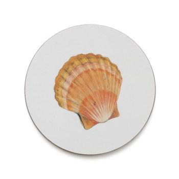 Seaflower Collection Coaster, 10cm, Scallop