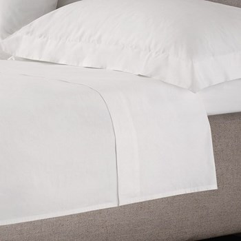 200 Thread Count Egyptian Cotton Double fitted sheet, W140 x L190 x D30cm, white