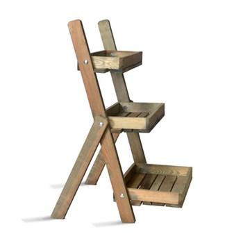 Aldsworth Pot ladder, H91 x W48 x D59cm, oak