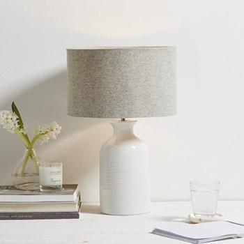 Bottle Table lamp, 50 x 32cm, white ceramic