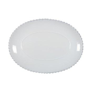 Pearl Oval Platter, 33cm, white