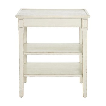 Gunnebo Side table with three shelves, 40 x 55 x 66cm, hand painted nordic white