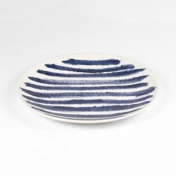 Indigo Rain by Faye Toogood Dinner plate, D28.5cm