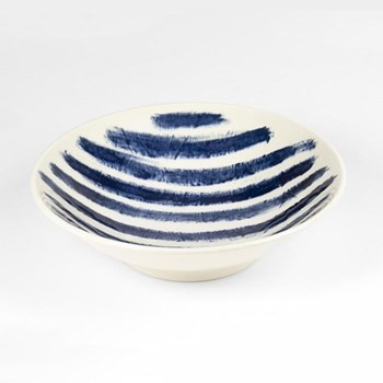 Indigo Rain by Faye Toogood Medium serving bowl, D24 x H6.5cm
