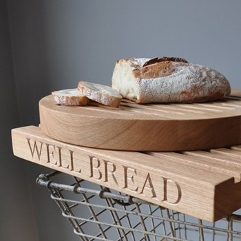 Slatted bread board, L40 x W30 x D4.5cm