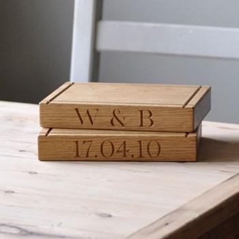 Bespoke engraved small board, L23 x W16 x D3.5cm