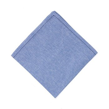 Feather stitch Set of 4 napkins, 54 x 54cm, blue