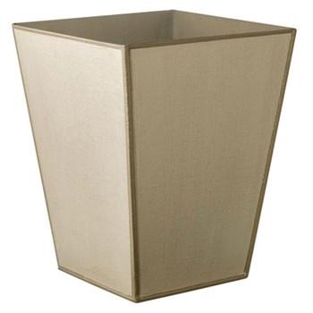 Mala Handpainted waste paper bin, 24 x 31cm, sand