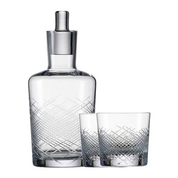 Hommage Comete Whiskey set - decanter and two glasses