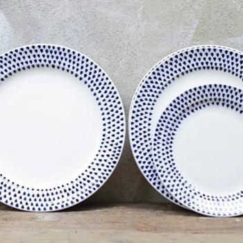 Set of 4 side plates 22.5cm