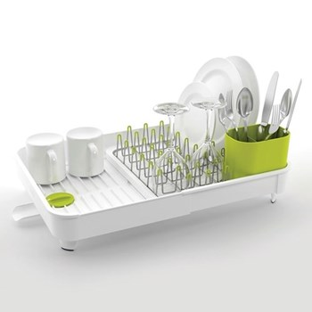 Extend Expandable dish rack, H16 x L36.5 x W32cm, white