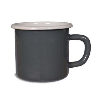 Enamel mug, 8 x 8cm, charcoal