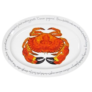 Crab Oval platter, 39 x 26cm