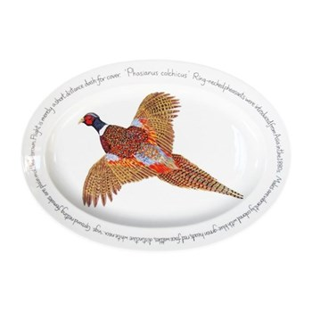 Ring-neck Pheasant Oval platter, 39 x 26cm