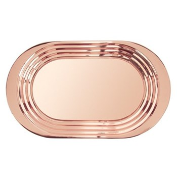 Plum Tray, W61 x L36cm, copper plated