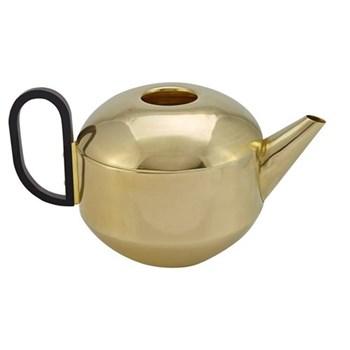 Form Teapot, W25 x D14.5 x H13.5cm, brass