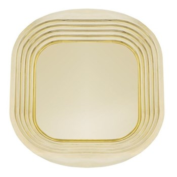 Form Square tray, W49 x D44 x H2.7cm, brass