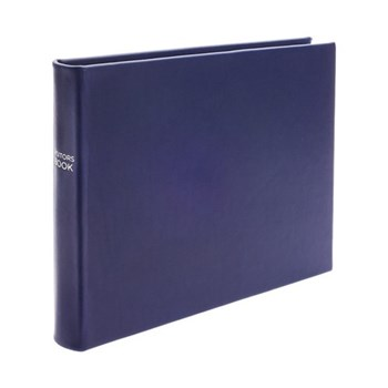 Chelsea Lined landscape visitors book, 22.3 x 28cm, sapphire leather