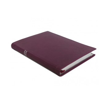 Chelsea Portrait address book, 21.5 x 15.5cm, cyclamen leather