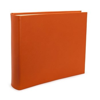 Chelsea Landscape photo album, 31 x 36.5cm, tangerine leather