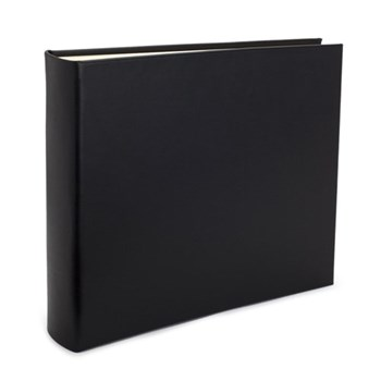 Chelsea Landscape photo album, 31 x 36.5cm, black leather