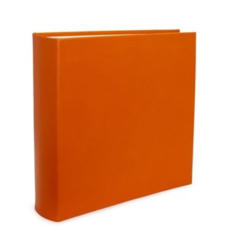 Chelsea Square photo album, 36.2 x 36.2cm, tangerine leather