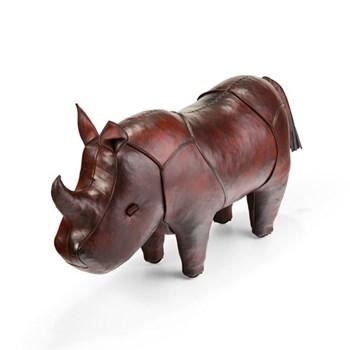 Rhinoceros Animal footstool, L640 x W200 x H370mm, cowhide leather