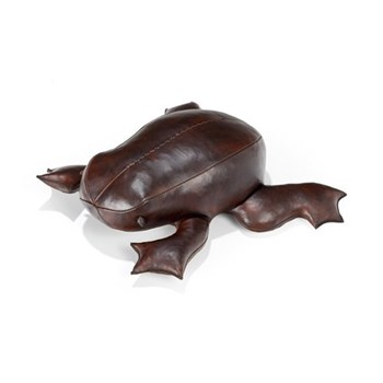 Pond frog Low animal footrest, L440 x W510 x H170mm, cowhide leather