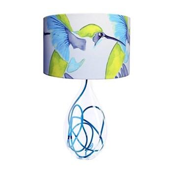 Sipping Nectar Large lamp, H47cm, cyan flex